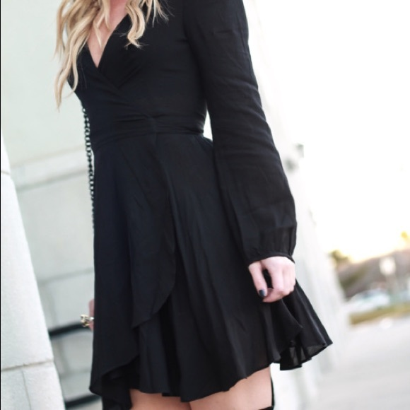 Urban Outfitters Dresses & Skirts - Black wrap dress